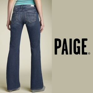 """PAIGE   """"Benedict Canyon"""" Low Rise Bootcut Jeans"""